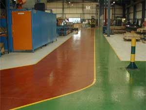 Factory Floor Painting High Build Epoxy Resin