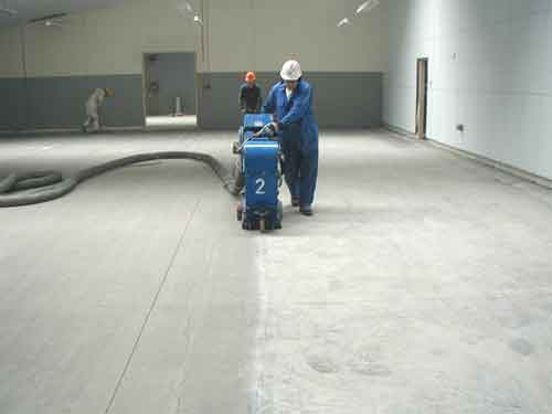 Industrial Floor Painting Shotblasting