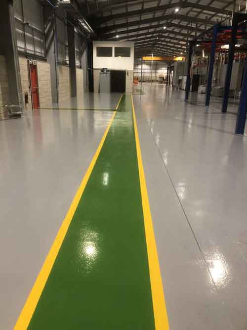 Warehouse Floor Painting Safety Walkway